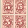 5c bright claret Postage Due proof block of four