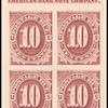 10c bright claret Postage Due proof block of four