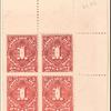 1c vermilion Postage Due block of four