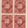 30c deep claret Postage Due block of four