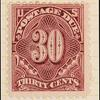 30c deep claret Postage Due single