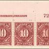10c deep claret Postage Due strip of three