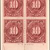 10c deep claret Postage Due block of four