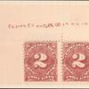 2c deep claret Postage Due pair