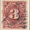 3c deep claret Postage Due single