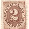 2c deep brown Postage Due single