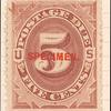 5c red brown Postage Due single