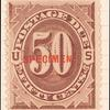 50c red brown Postage Due single
