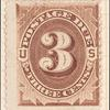 3c deep brown Postage Due single