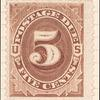 5c deep brown Postage Due single