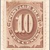 10c deep brown Postage Due single