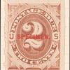 2c red brown Postage Due single
