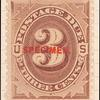 3c red brown Postage Due single