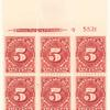 5c carmine Postage Due block of six