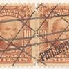 10c pale red brown Daniel Webster pair