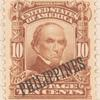 10c pale red brown Daniel Webster single