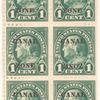 1c deep green Franklin block of ten