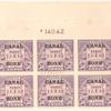 50c lilac Arlington Amphitheater block of six