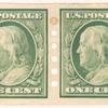 1c green Franklin pair
