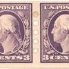 3c deep violet Washington strip of four