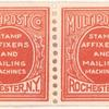 Demonstration Postage Stamp strip of four