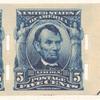 5c blue Abraham Lincoln pair