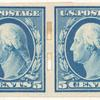 5c blue Washington pair