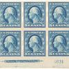 5c blue Washington block of six
