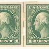 1c green Washington strip of four