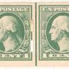 1c green Washington strip of four
