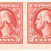2c carmine rose Washington strip of four