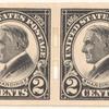 2c black Warren G. Harding pair