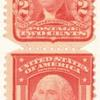 2c scarlet Washington strip of four