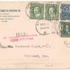 """5c Abraham Lincoln, 2c Washington and 1c Franklin on cover"""