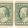 1c green Washington pair