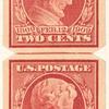 2c carmine Lincoln Centenary of Birth pair