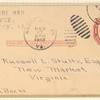1913 prepared but not flown Woodstock, Vermont postal card