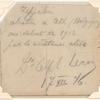 1916 courtesy note from French aviators to Germans