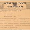 1917 Buffalo, New York to Washington flight for Red Cross fund telegram