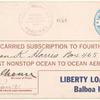 1918 Cristobal to Balboa Liberty Loan flight cover