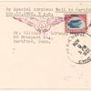1922 Chicago, Illinois to Hartford, Conneticut flight cover