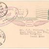 1923 New Orleans to Pilottown, Louisiana hydroplane flight postal card