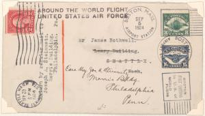 1924 Around the World flight cover