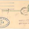 1925 Philadelphia to Boston McMillan Polar Expedition postal card