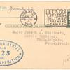 1925 Boston to Philadelphia McMillan Polar Expedition postal card