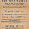 1887 leaflet dropped from balloon flight