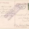 1912 New Orleans to Baton Rouge, Louisiana flight postcard