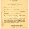 1912 certificate of receipt for planned New York to Washington flight