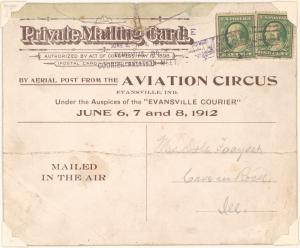 1912 Evansville Courier aviation meet souvenir card