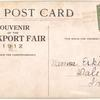 1912 Rockport, Ind. fair grounds aviation exhibition post card